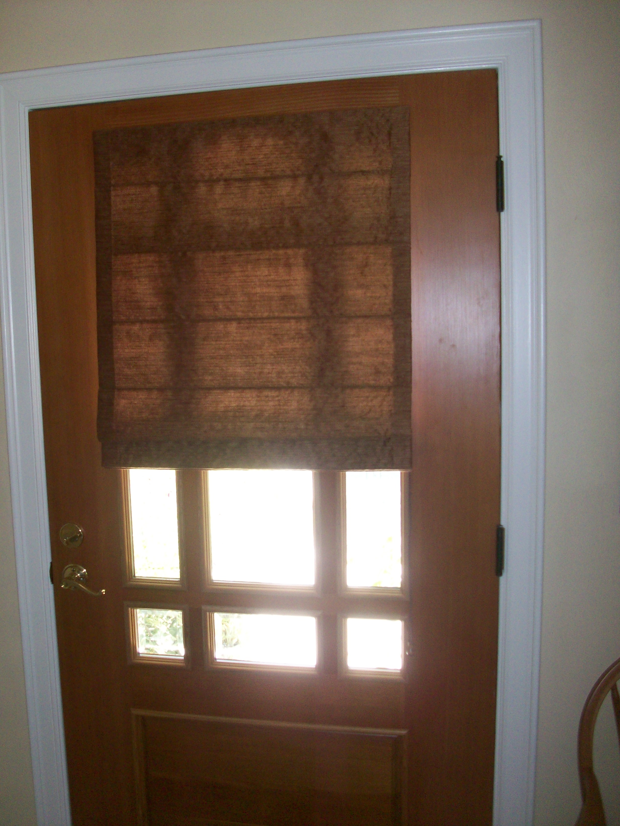 Window treatments petaluma textile design for Entry door with window